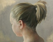 11x14 Print of oil painting narrative figurative portrait girl 'Threshold' by Kim Dow