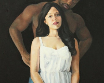 SALE Undeniable original oil classical  portrait figurative painting by Kimberly Dow