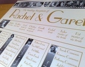 Wedding Table Seating Plan A2 - your choice of design