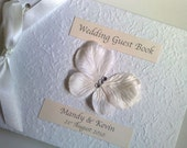 Handmade Personalised Flutterby Guest Book