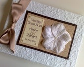 Handmade Personalised Petal Wedding Guest Book
