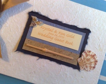 Handmade Personalised Destination Guest Book - perfect for weddings abroad