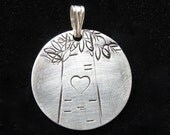 Sterling silver personalized necklace custom tree pendant