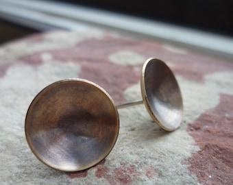 VESSEL bronze domed post earrings