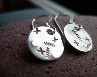 PICK FIVE choose ANY five pair stamped disc earrings