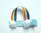 Rainbow Hair Bow Clippie