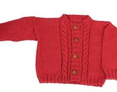 Easy Child's Cable Cardigan - Knitting Pattern PDF