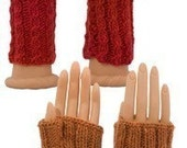 Easy Fingerless Gloves Two Ways - Knitting Pattern  PDF