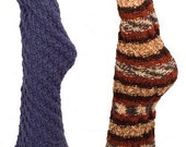 Twisty Toe-Up Tube Socks - Three Yarn Weights - Many Sizes - No Pesky Heels - Knitting Pattern PDF