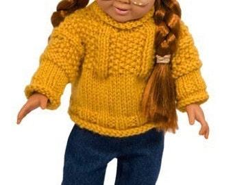 American Girl Doll Chestnut Hill Gansey Sweater and Hat Set - Knitting Pattern PDF