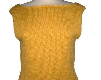 Easy Boatneck Shell Sweater Pullover- Many Customizing Options - Knitting PDF Pattern