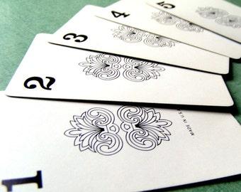 SALE! 1963 Number Cards. Fleurish