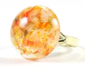 CLEARANCE - Gumball - Orange Resin Ring