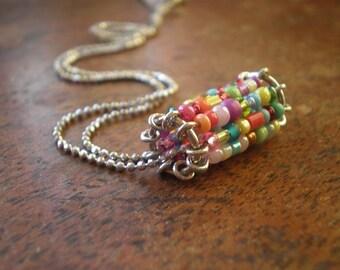 Bat Mitzvah | Christmas Gift Granddaughter | Cute Teen Girl's Necklace | Sweet Sixteen Birthday | Fun Whimsical | Colorful Bead | Graduation