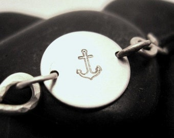 Anchors Away \/ Sterling Silver Anchor Bracelet