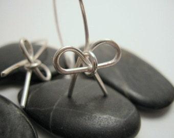 Pretty Bow Sterling Silver Earrings