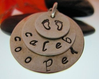 Personalized 3 Tiered Pendant
