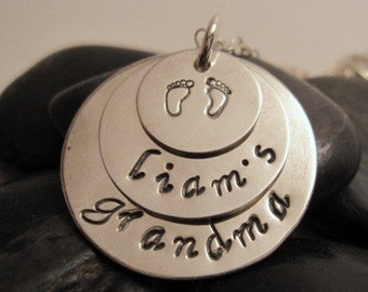 Proud Grandma Personalized Stamped Necklace