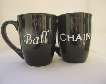 Quirky Ball & Chain Mug Set