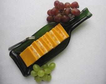 Sassy Green Deep Dish Wine Bottle