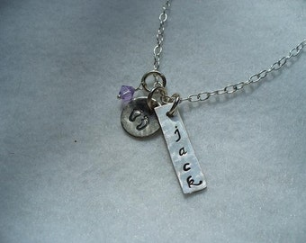 Personalized Sterling Silver Name Bar