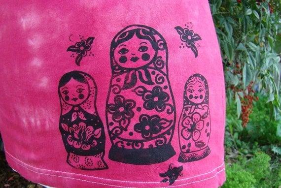 Nesting Dolls Russian Folkart Tee
