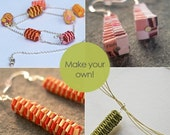 DIY woven paper beads tutorial - make your own woven paper beads - PDF