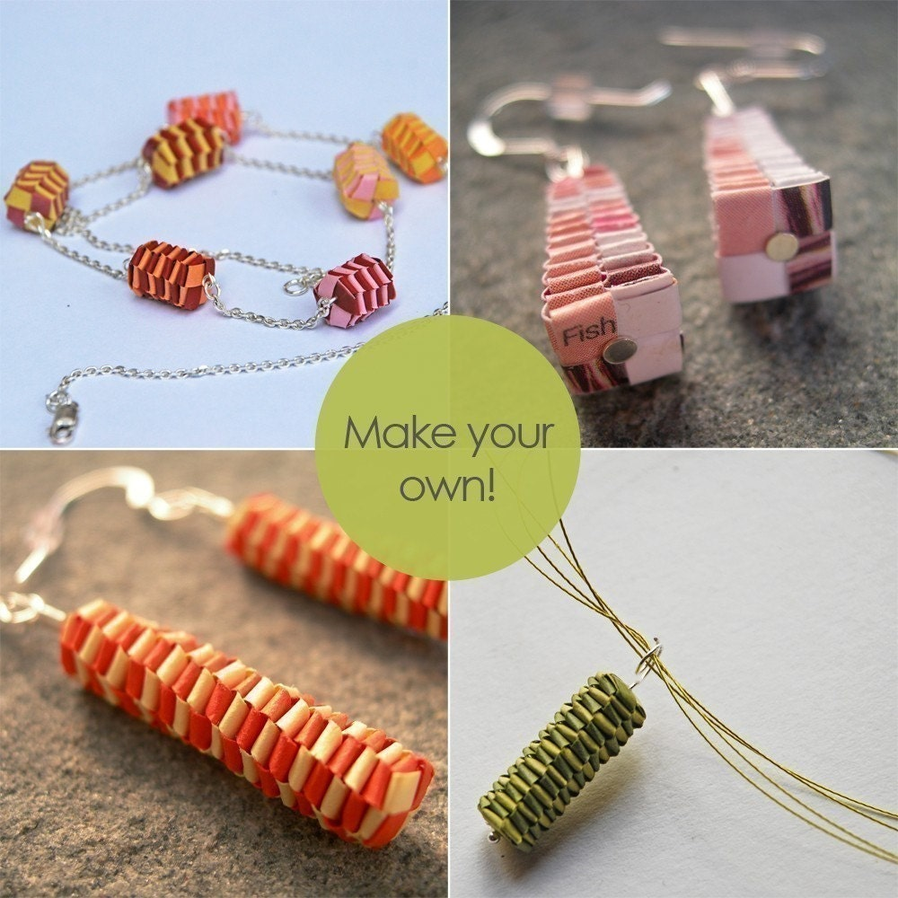 diy woven paper beads tutorial make your own woven paper