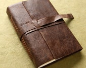 Dark Brown Leather Journal or Sketchbook