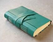 Teal Leather Journal or Sketchbook