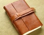 Honey Brown Leather Sketchbook or Journal
