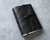Black Leather Journal or Sketchbook - lined pages