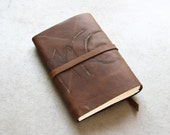 Journal Sketchbook Leather - Dark Rustic Brown