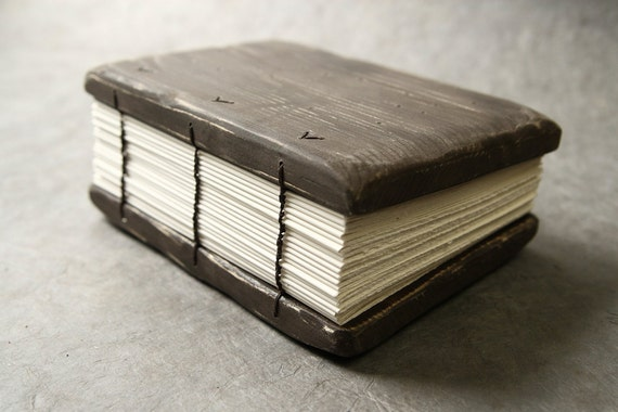 SALE - Wooden Cover Journal - OOAK