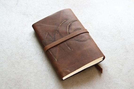 Journal Sketchbook Leather - Dark Rustic Brown