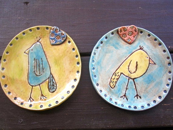 SALE Set of Bird Plates