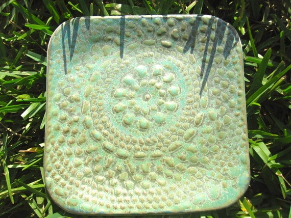 Lace Plate in Green