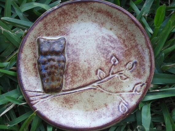 Owl Spoon Dish or Jewelry Dish