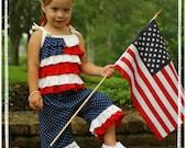 Patriotic Capri Set - Made is the USA