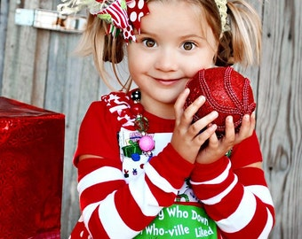 Merry Grinchmas - Christmas apron dress