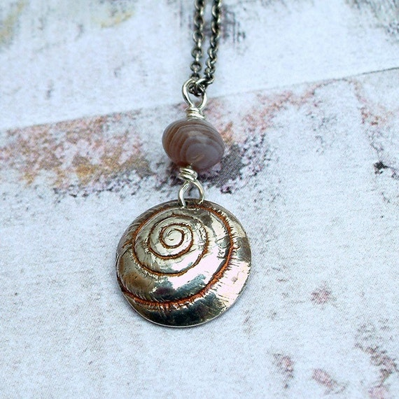 Monadenia Pendant Nature Inspired Snail Jewelry