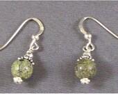 Russian Serpentine 6mm Sterling Silver Earrings