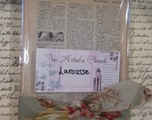 Vintage French Larousse Mixed Media Altered Art Collage 20 pages