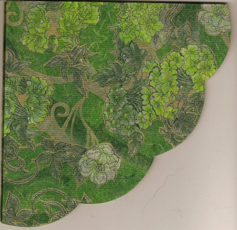 Silken Rice Paper Napkins For Decoupage Paper Arts Green