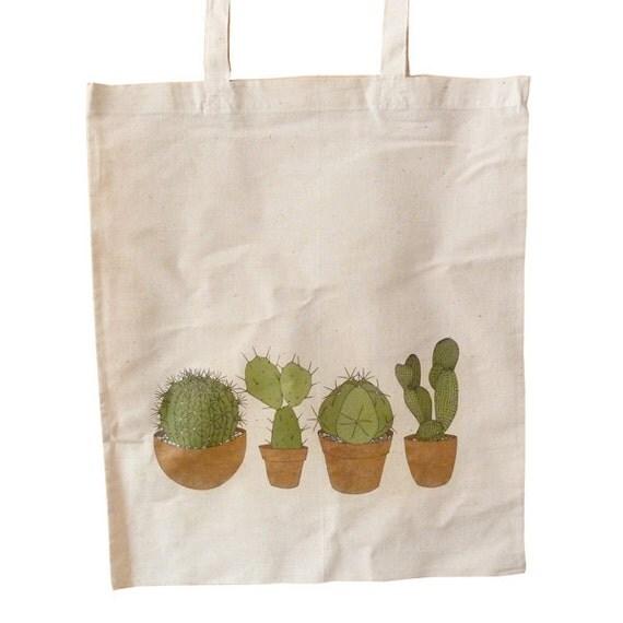 cacti cotton bag