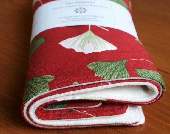 Organic Burp Cloths Set, GINGKOS, on SALE, save 30%