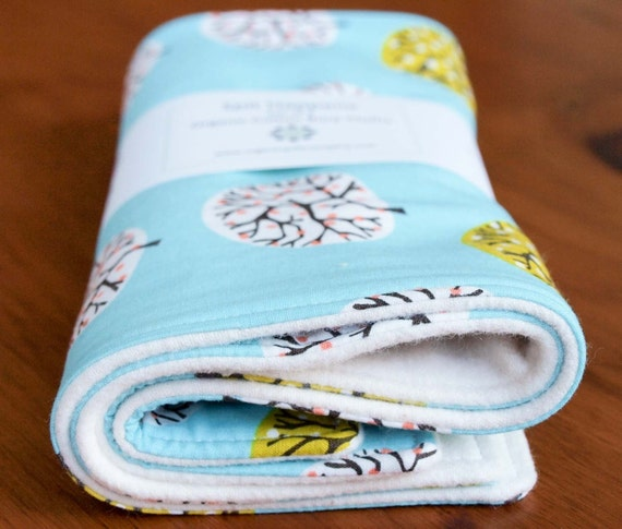Organic Burp Cloths, Set of Two in SPRING ORCHARD, Last Set