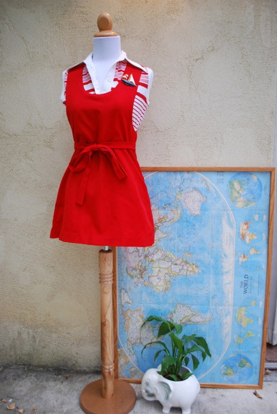 Vintage Apple For the Teacher Red Jumper (size extra small, small)