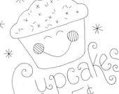 Cupcake Embroidery Pattern