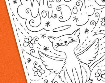 Kitty Cat Embroidery Pattern Bad Kitty